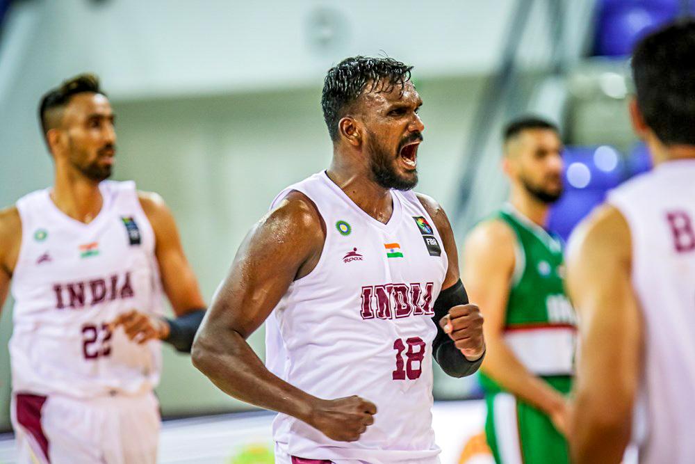 Aravind Annadurai vs Iraq in the FIBA Asia Cup 2021 Qualifiers