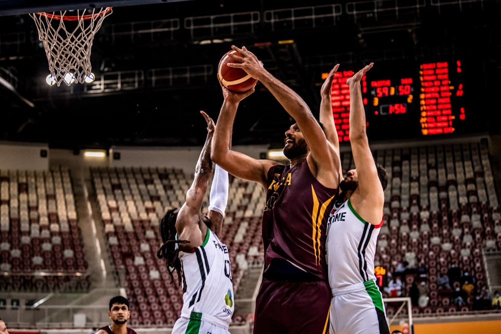 Amritpal Singh vs Palestine in FIBA Asia Cup 2021 Qualifiers