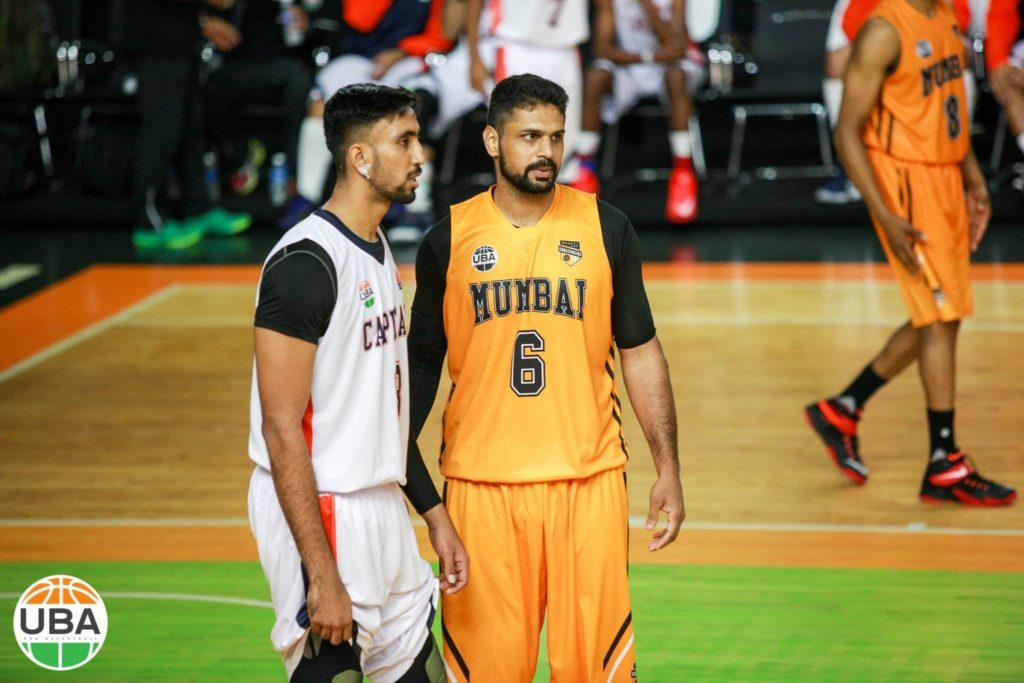 Amjyot Singh Gill and Jagdeep Bains in action for Delhi Capitals and Mumbai Challengers in UBA Season 4 at Satyabhama University, Chennai.