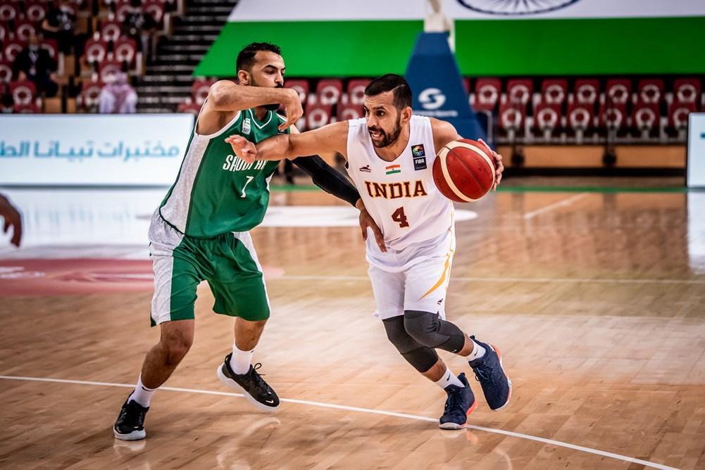 Joginder Singh Saharan in FIBA Asia Cup 2021 Qualifiers