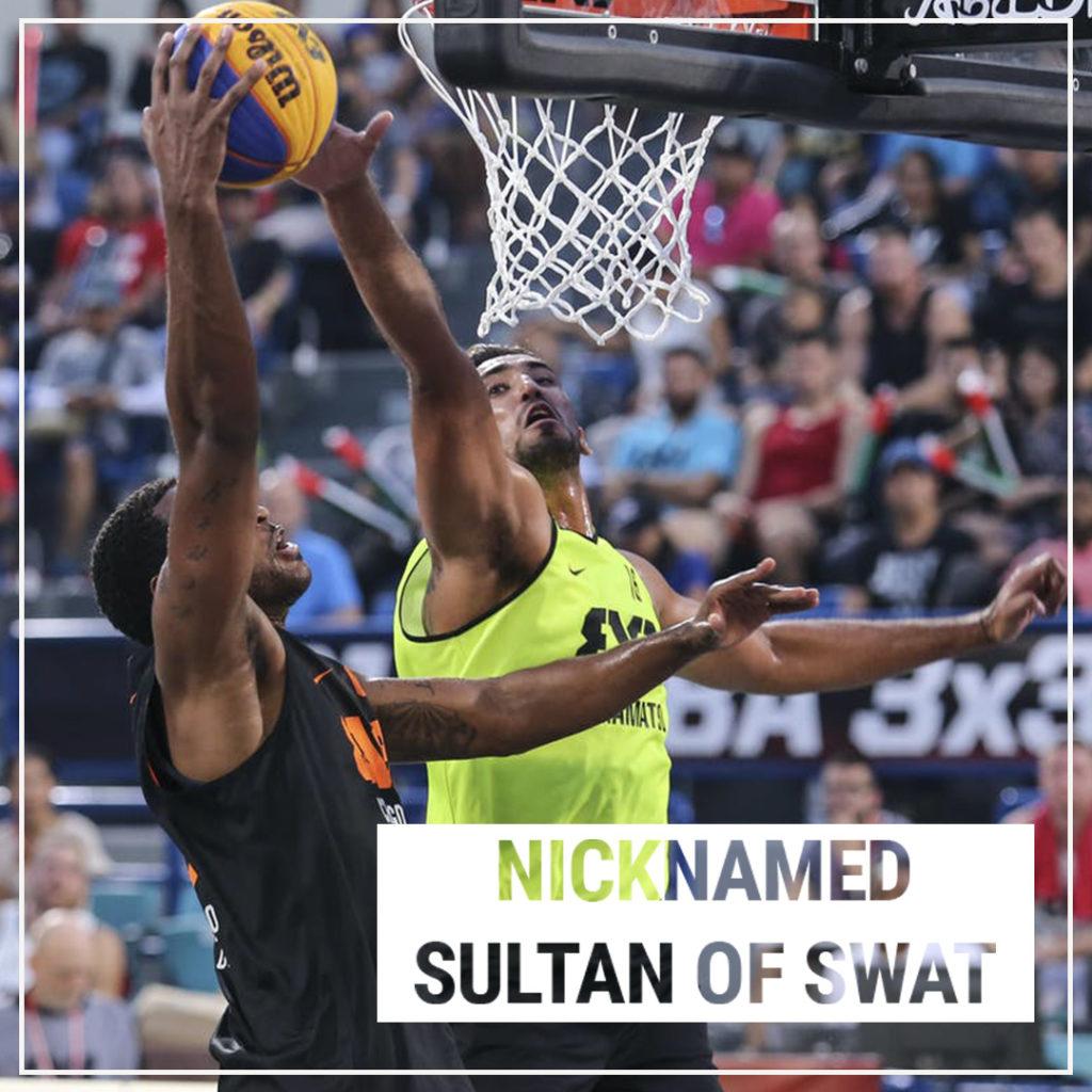 Amjyot Singh Gill aka Sultan of Swat in action for Team Hamamatsu in FIBA 3x3